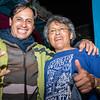 Erick Rojas Santander de San Jeronimo & Orestes Bellota de La Base luego de la presentación de La Base Punk Vernakular - Festival del Arco Iris - Cusco - Perú