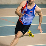 Niels Verbraekel (Vlierzele Sportief) in de reeksen van de 2OO M @ Kampioenschap van Vlaanderen - BLOSO Topsporthal - Gent