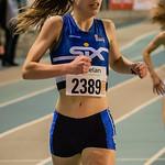 Zilver op de 1.500 M voor Lynn Dekeyser (AV Roeselare) @ Kampioenschap van Vlaanderen - BLOSO Topsporthal - Gent