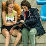 C�line Roelens bij de Antidoping van de Vlaamse Gemeenschap @ Kampioenschap van Vlaanderen - BLOSO Topsporthal - Gent