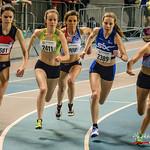 Start 1.500 M Dames met vlnr Fien Schelfhout (ASV Oudenaarde), C�line Roelens (Hermes Oostende), Nele Hillewaere (Vlierzele Sportief), Lynn Dekeyser (AV Roeselare) & Hannelore De Lathouwer  ...