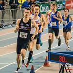 1.500 M Heren na 200 M @ Kampioenschap van Vlaanderen - BLOSO Topsporthal - Gent
