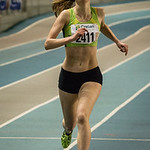 Vlaams kampioene op de 1.500 M Dames C�line Roelens (Hermes Oostende) @ Kampioenschap van Vlaanderen - BLOSO Topsporthal - Gent