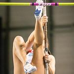 Laura Quirin (DCLA) in het polsstokpringen @ Kampioenschap van Vlaanderen  - BLOSO Topsporthal - Gent