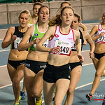 Posities na de eerste ronde met Hanne Van Loock (DCLA) op kop gevolgd door Sofie Lauwers (RAM), Jessie Raes (Houtland AC) en Yentl Vandenberghe (AV Lokeren) op de 800 M Dames @ Kampioenschap ...