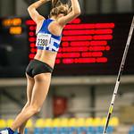 Scholiere Hanne Borstlap (AC Herentals) behaalt het brons met een sprong van 3,60 M in het polsstokpringen @ Kampioenschap van Vlaanderen  - BLOSO Topsporthal - Gent